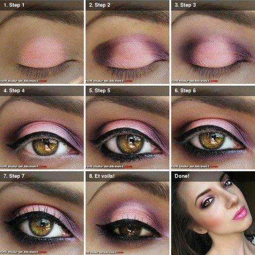 Make up pink and black ❀