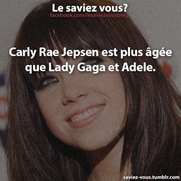 Saviez-vous cela sur Carly ?