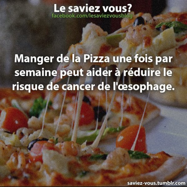 Saviez-vous cela sur la pizza ?