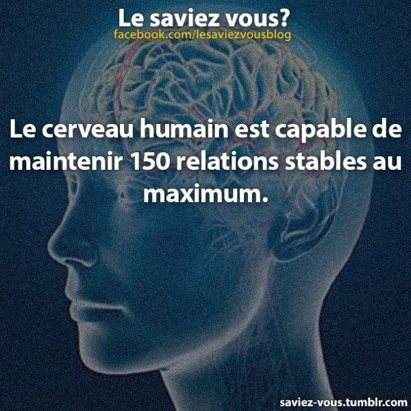 Saviez-vous cela sur le cerveau ?