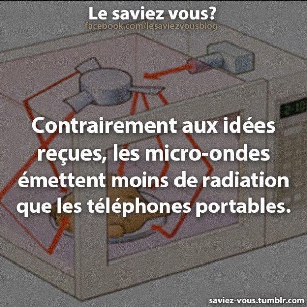 Saviez-vous cela sur les micros-ondes ?