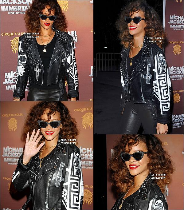 27/01/12 : Riri à la première du spectacle du Cirque du Soleil « Michael Jackson Immortel » à Los Angeles. + Rihanna a remporté le prix de « l'Artiste Féminine Internationale de l'année » aux « NRJ Music Awards 2012 » le 28 janvier.
