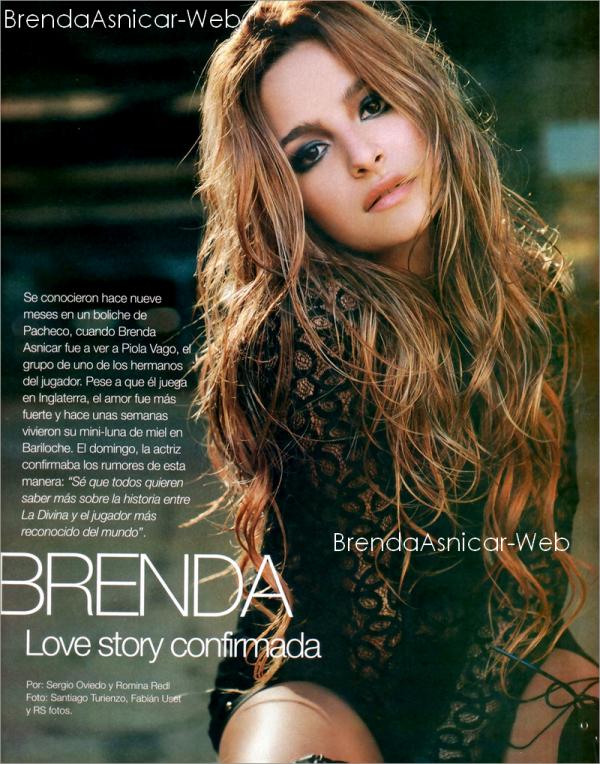 """Enfin tout les scans du magasine """" Gente """" ou Brenda a fait la couverture se mois dernier !"""