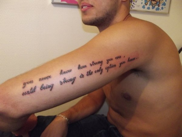 Tattoo Phrase Fantasy Tattoo Piercing
