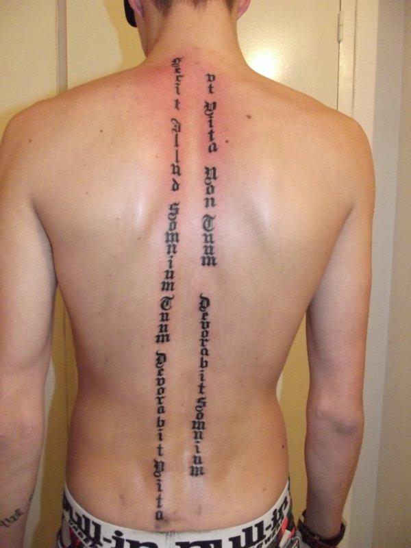 Tattoo Lettre Gothique Latin Fantasy Tattoo Piercing