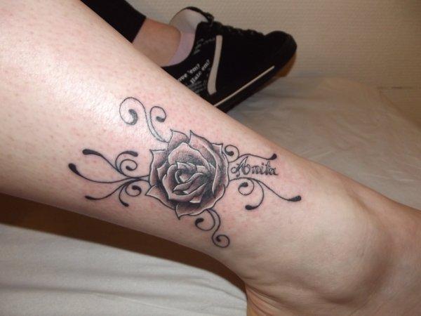 Tattoo Prenom Rose Fantasy Tattoo Piercing