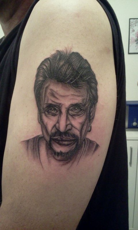Tattoo Portrait Johnny Hallyday Fantasy Tattoo Piercing