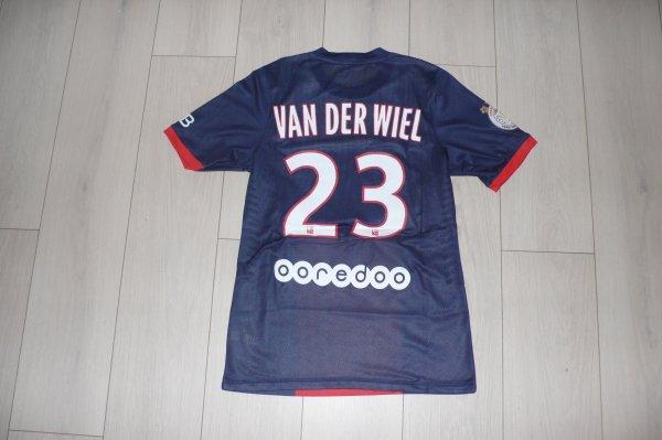 Maillot Van Der Wiel PSG Home 2013/2014 Ligue