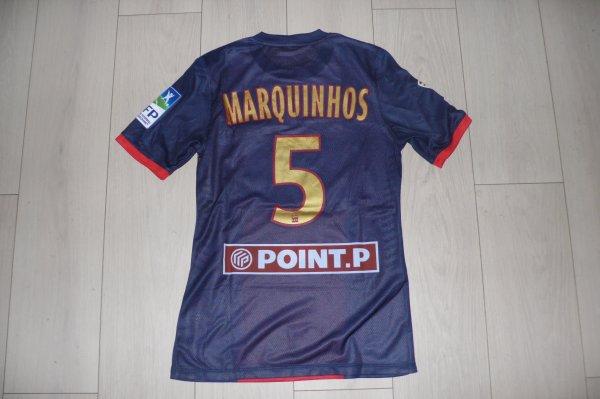 Maillot Marquinhos PSG home 2013/14 Final coupe de la ligue