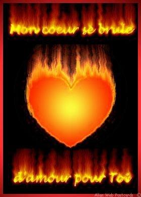 mon coeur en flamme