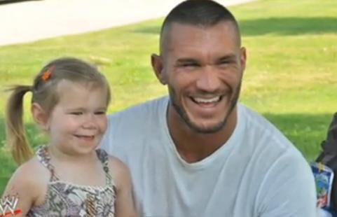 PHOTOS THAT DATE August 2011 RANDY ORTON FOR HIS DAUGHTER WITH SMILEY ALANNA.