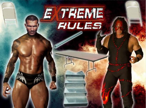 Extreme Rules 2012 '' matches'' Randy orton Vs Kane ( falls count anywhere match