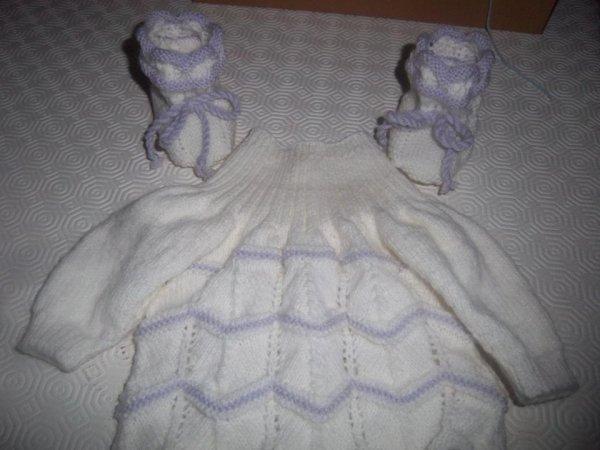 Ensemble violet et blanc