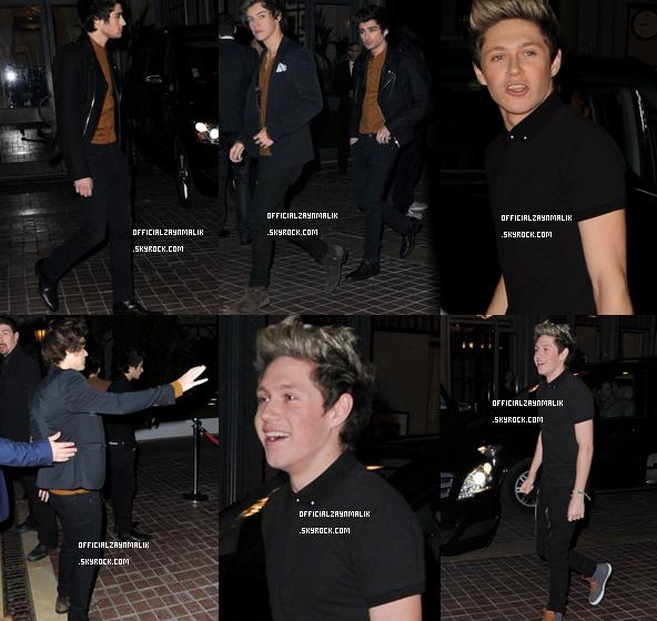 Actualité de Zayn Malik & de One Direction, 08 Février 2013