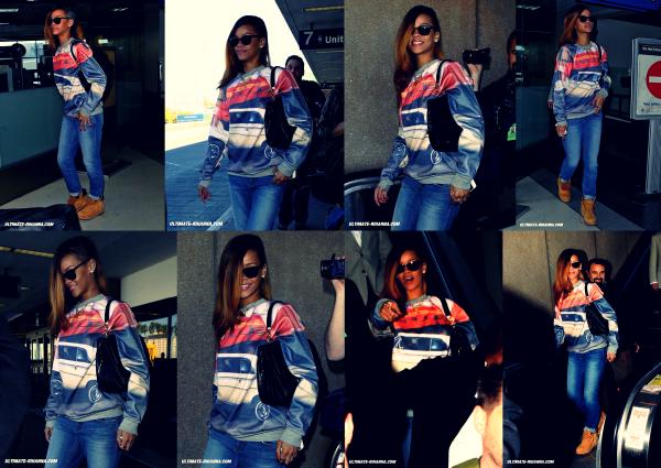 Le 31 janvier Rihanna à l'aéroport !