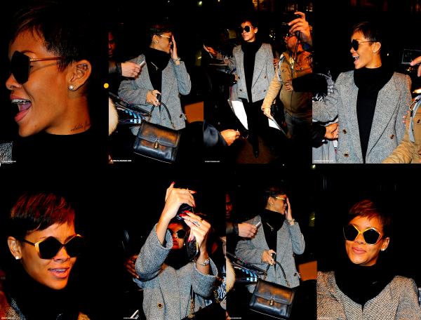 Le 29 janvier Rihanna arrivée à son hotel à New York !