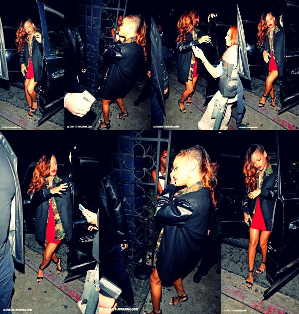 Le 3 Février Rihanna rejoint son ami Ne-Yo & Chris au Greystone Manor une boite de nuit de Los Angeles !