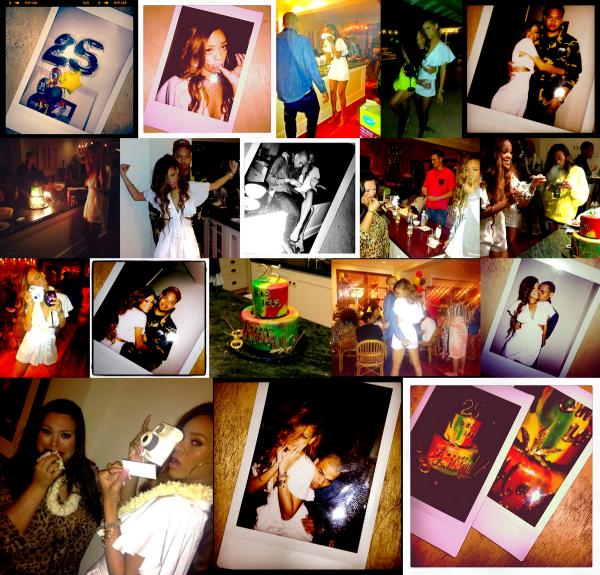 Le 20 Février Rihanna fêtais ses 25 ans a Hawaï avec Chris et ses amis !