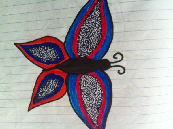 Un papillon que j'ai dessiner il y lontemps!^-^