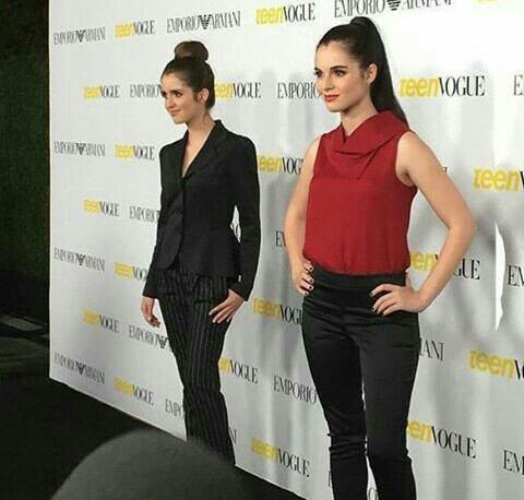 Les deux soeur Marano a l'événement TeenVogue