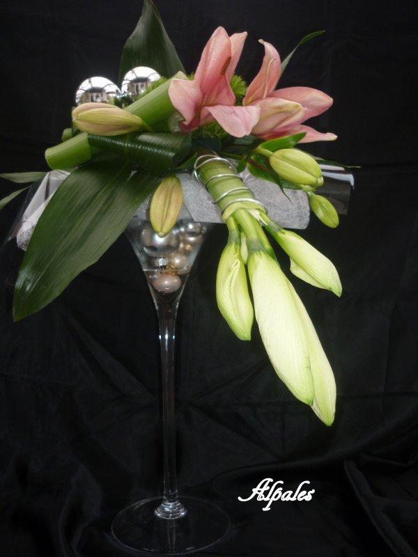 """Calendrier de l'Avent ( dans un vase """"Martini"""")"""