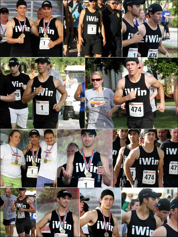 00    6 Septembre 2010 :   Joe & Nick participent à l'évenement iWin 5K Fun Run / Walk en Floride.   00
