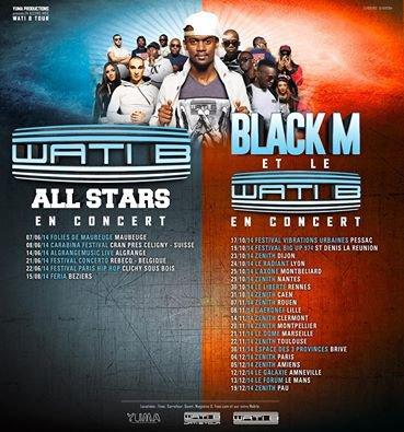 Tournée de BLACK M en 2014!!! :)