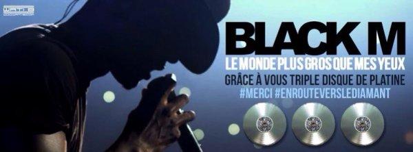 Black M triple disque de platine