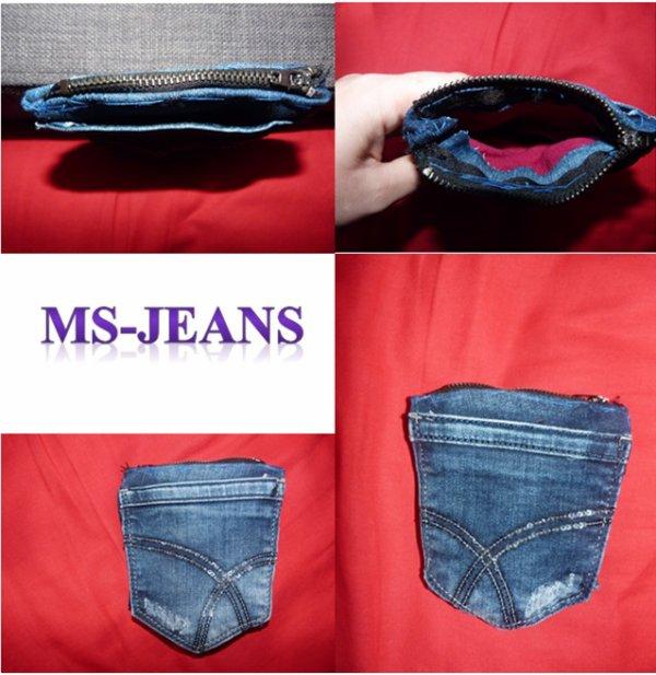 porte monnaie en poche à jeans