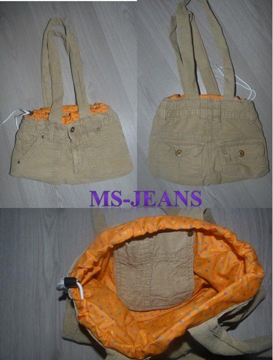 un sac beige intérieur coloré