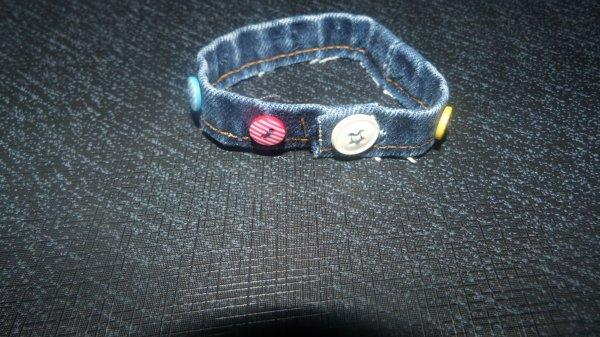 bracelet en jeans