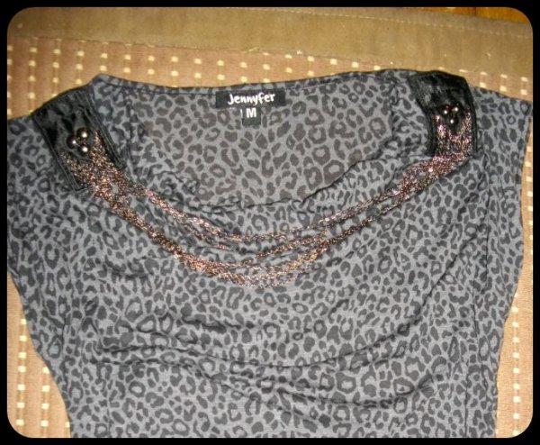 Haut panthère gris & noir :)