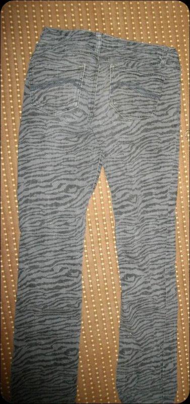 Jeans zébré gris & noir :)