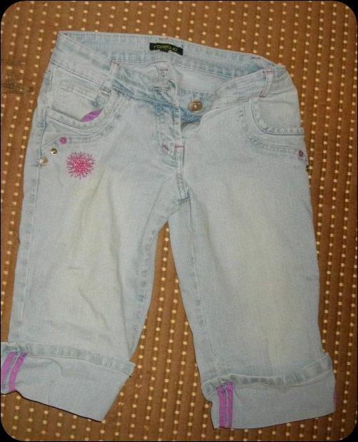Pantacourt couleur jeans :)