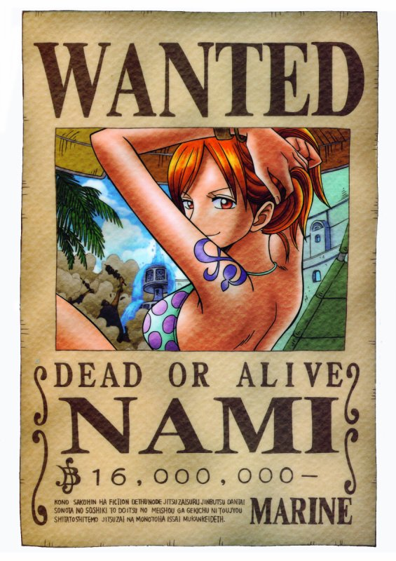 wanted nami