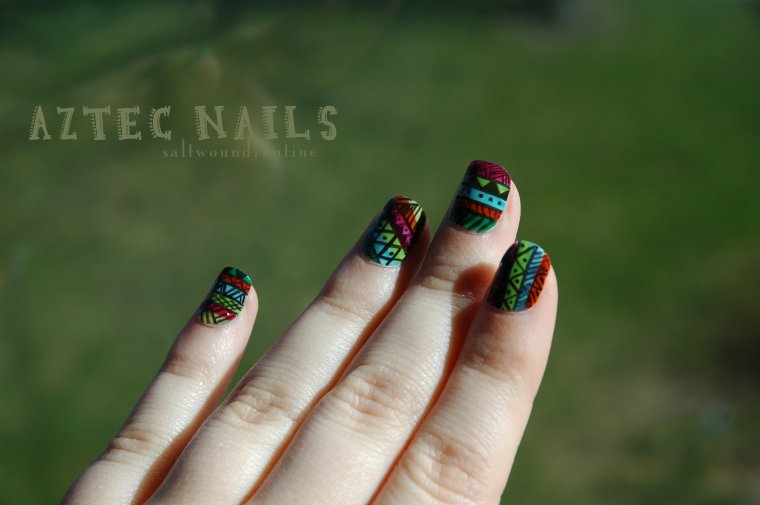 Aztec/Tribal Nails