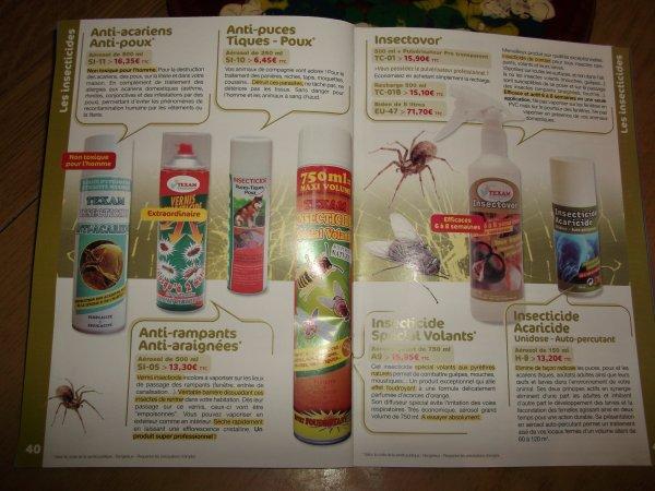 nos produits pour votre animal de compagnie et insectes volants et rampants