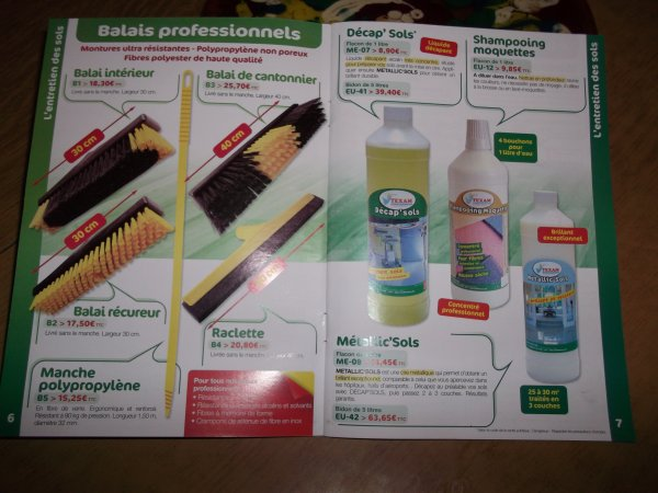 nos balais professionnels nos decapsols nos cirant sols et shampoing moquette