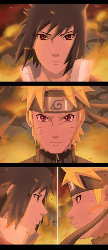 Naruto Uzumaki VS Sasuke Uchiwa