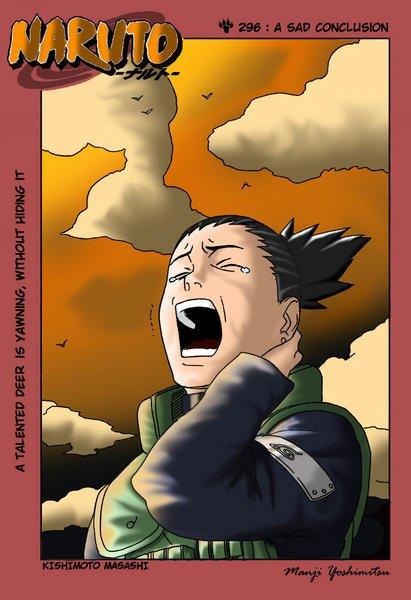Shikamaru Nara qui pleur son maître