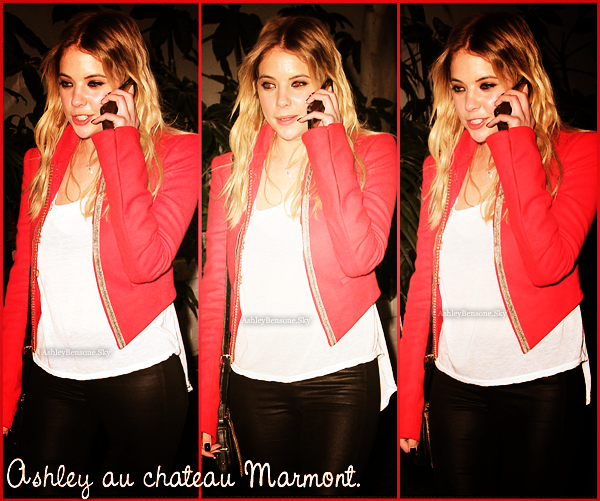 ∆ Events & Candids 10.02.13  Ashley étais au Grammy celebration et au Chateau Marmont.
