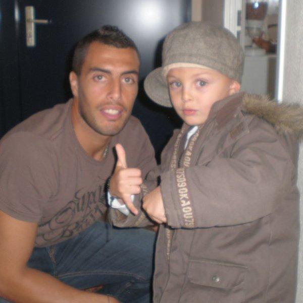 joueur algerien et son fils