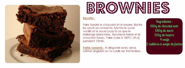 De Délicieux et Succulents Brownies pour vous mes pommes d'amours :3