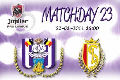 Pronostiques Match : Rsc Anderlecht - Standard de Liège ( 23.01.2011 )