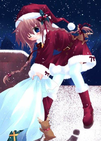 Jeune fille manga no l blog de quelques images manga - Image manga noel ...