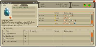 Deux Dragon Cochon : 2 Dofus Turquoise.