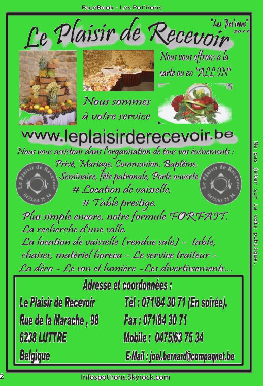 Sponsors Chasse Aux Oeufs 2011