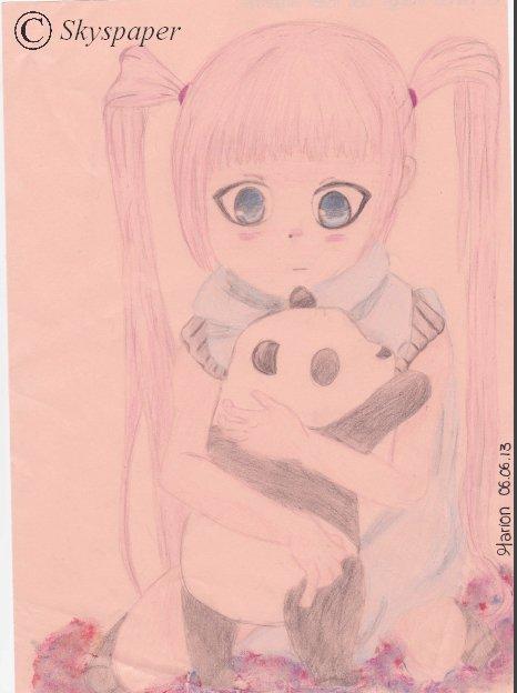 La fille au Panda