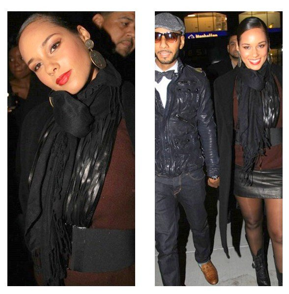 Alicia et Swizz Beatz ay QG Party