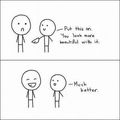 N'attends pas d'être heureux pour sourire, souris afin de le devenir.